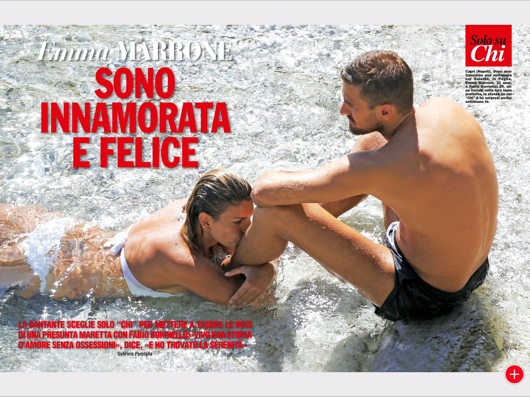Emma e Borriello junior sempre più in love a Capri