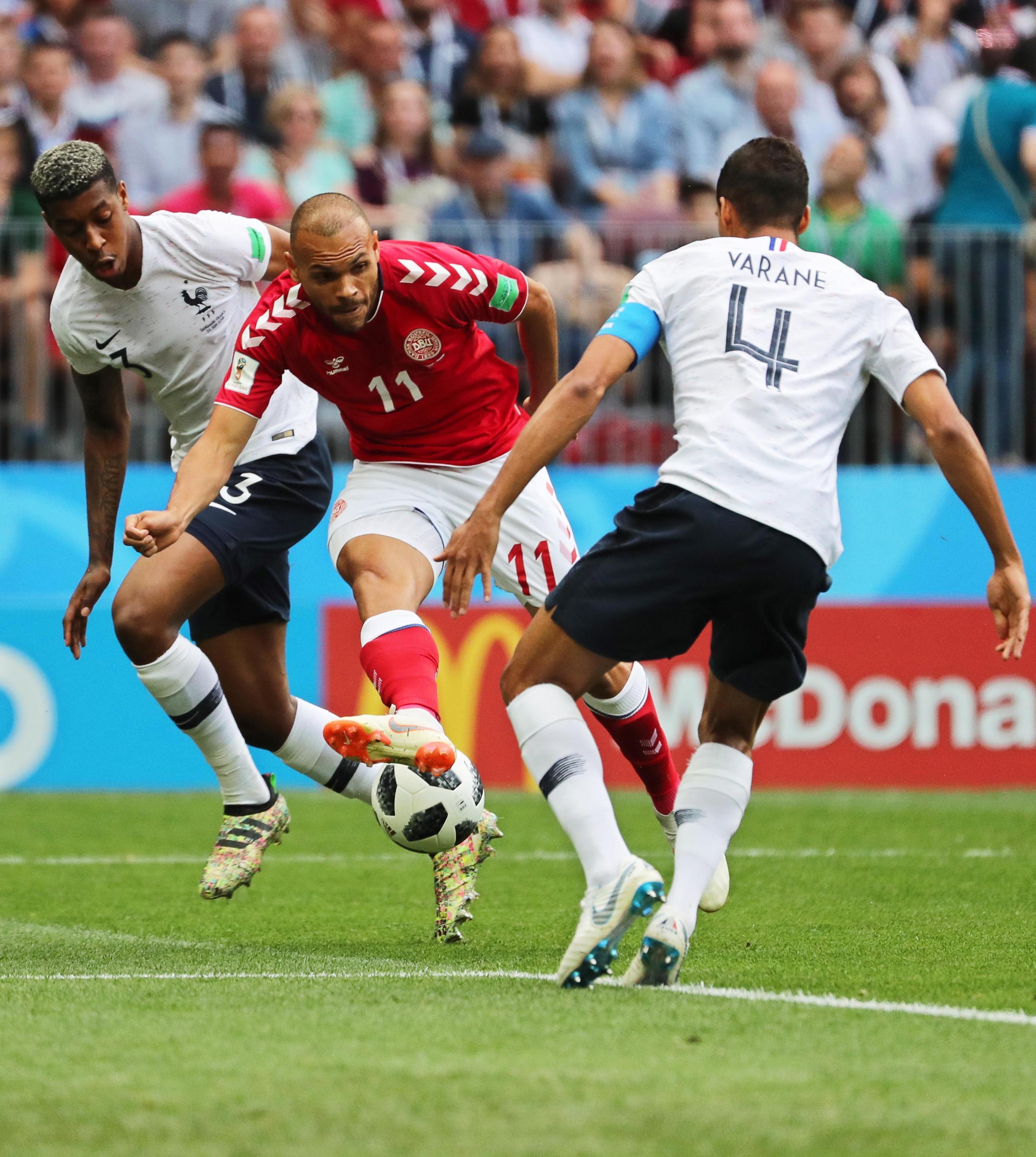 Mondiali 2018, le foto di Danimarca-Francia