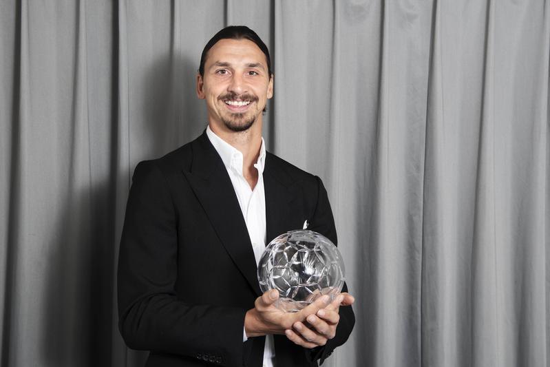 Ibra premiato come miglior attaccante svedese