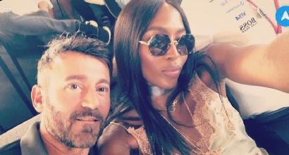 Biaggi amarcord con Naomi Campbell: la foto dell'incontro