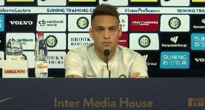 Lautaro Martinez si presenta all'Inter: