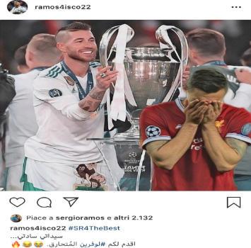 Ramos-Lovren, duello a distanza: like galeotto dello spagnolo, il croato piange