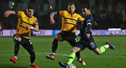 FA Cup, ottavi: City a fatica sul campo del Newport, 4-1 firmato Sané, Foden e Mahrez