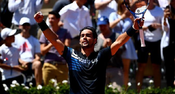 Tennis,Fognini agli ottavi a Parigi