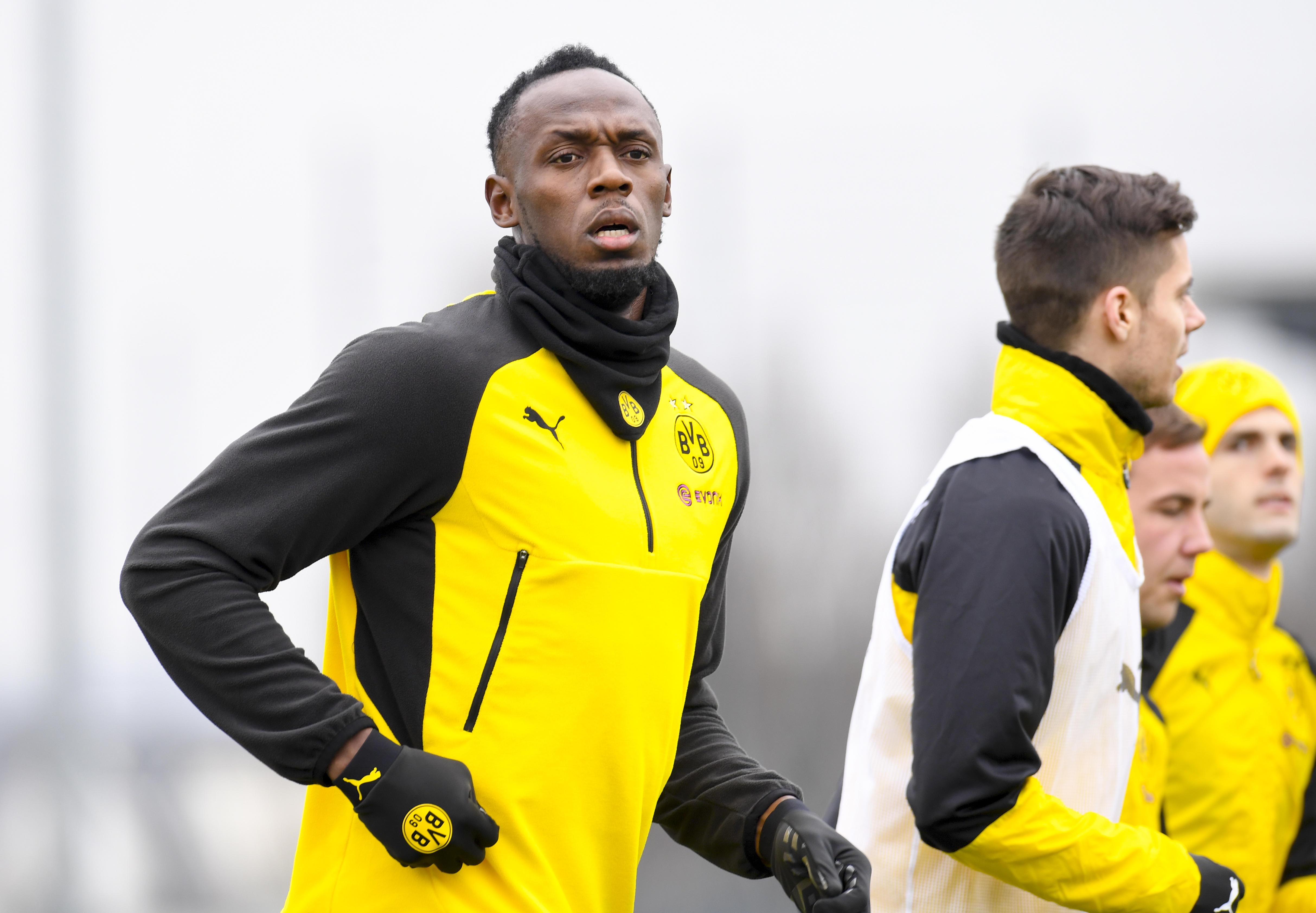Bolt si allena con il Dortmund