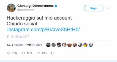 Donnarumma torna su Instagram: l'hacker non c'è più
