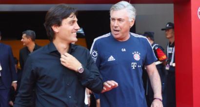 """Milan, Montella risponde ad Ancelotti: """"Carlo sei il numero uno"""""""