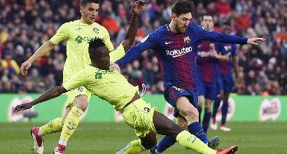 Liga: il Barcellona frena, tris del Valencia al Levante
