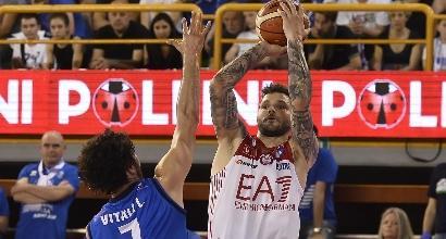 Basket, Serie A: Brescia cade ancora, Milano in finale