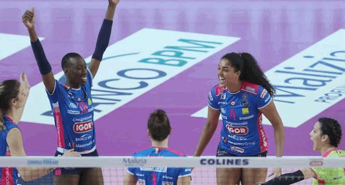 Volley, Champions League: Novara raggiunge Conegliano in finale