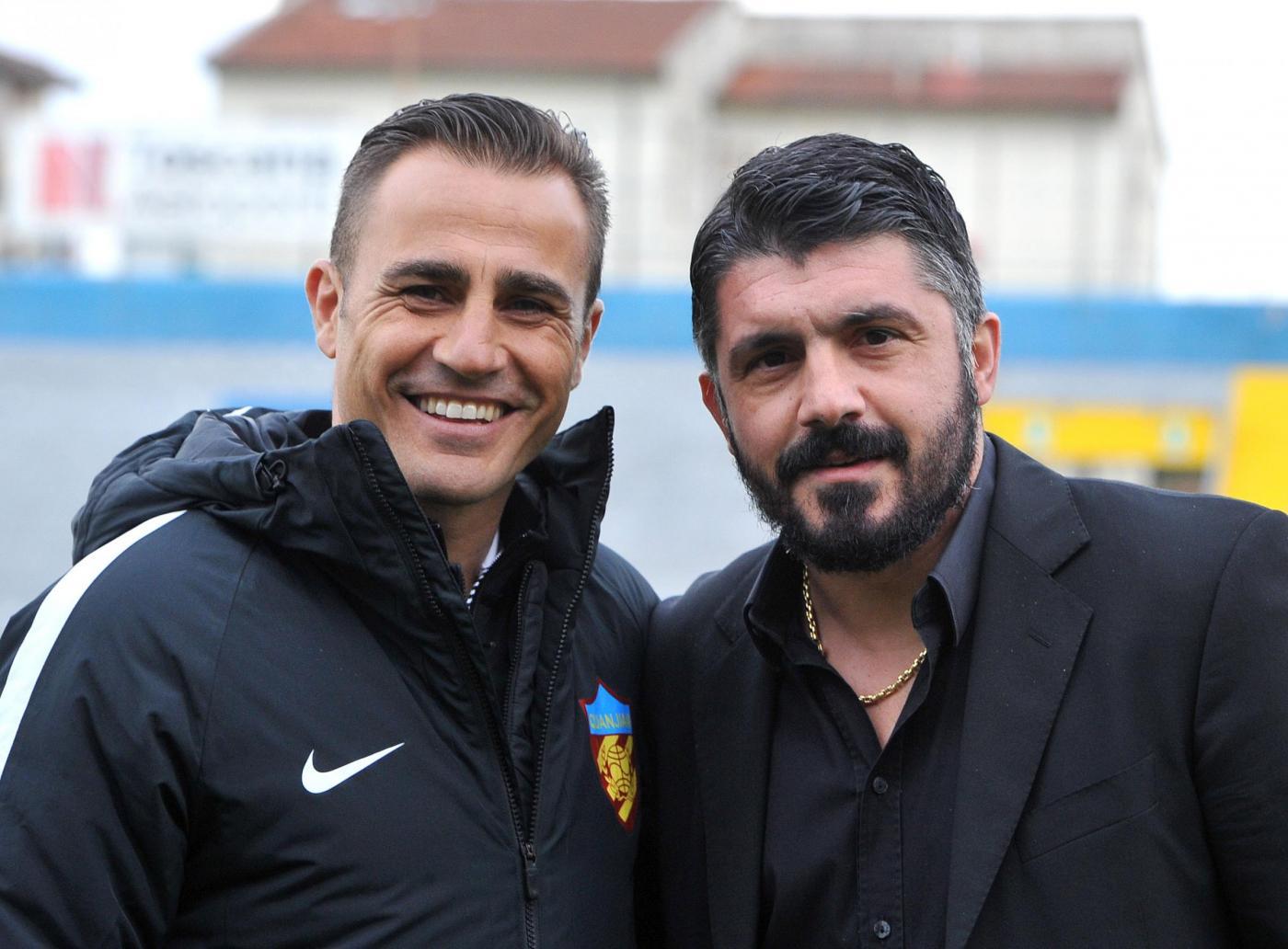 Amichevole: Gattuso batte Cannavaro