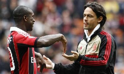 Seedorf e Inzaghi, foto Lapresse