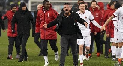 Testa e gambe il Milan di Gattuso vola