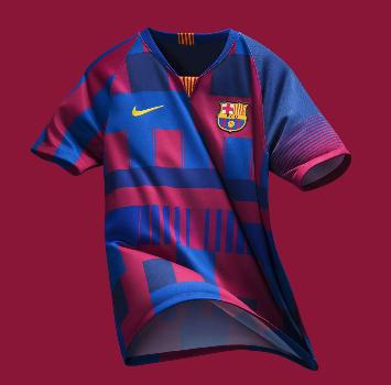 La maglia celebrativa del Barcellona: un mix delle divise degli ultimi 20 anni