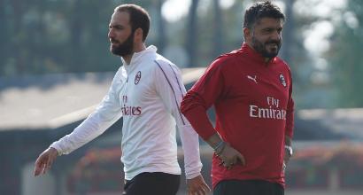 Milan, Higuain e Gattuso sotto accusa: futuro a rischio