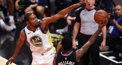 Nba, playoff: Boston vola in semifinale, Curry e Durant piegano i Clippers di Gallinari