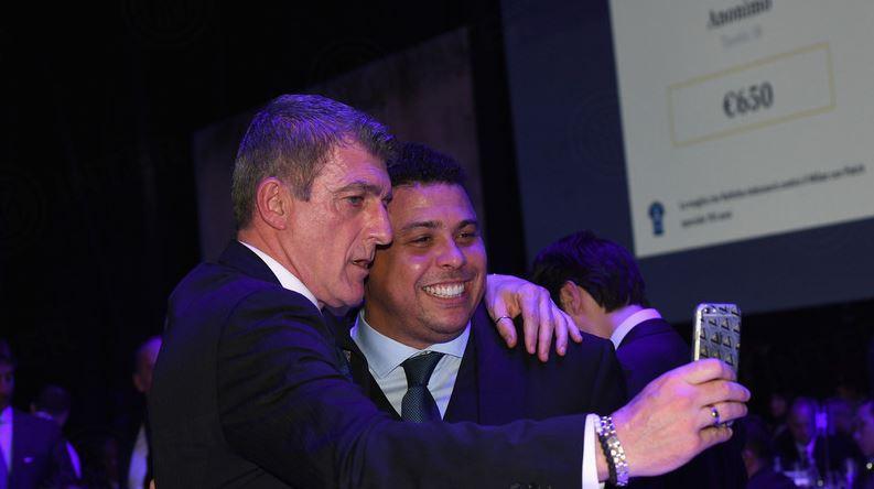 Gianluca Pagliuca e Ronaldo
