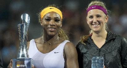 Serena Williams e Viktoria Azarenka (Ansa)