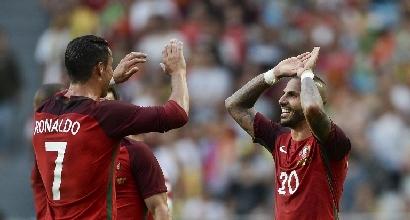 Euro 2016, amichevoli: Portogallo a valanga, Estonia travolta