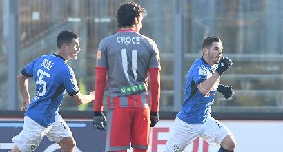 Serie B: il Brescia vince il derby al 91' ed è aggancio in vetta