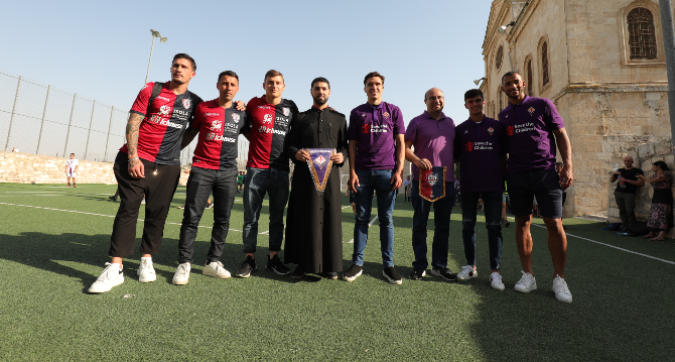 Inaugurato a Betlemme un campo di calcio dedicato ad Astori