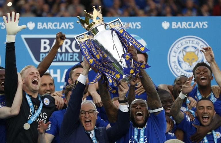 Grande festa per il Leicester. Ranieri e i giocatori hanno ricevuto il trofeo e la medaglia per la vittoria della Premier League. Delirio al King Power Stadium<br /><br /><br />