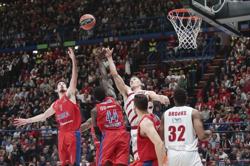 L'Olimpia gioca una grande partita ma cade contro il Cska Mosca