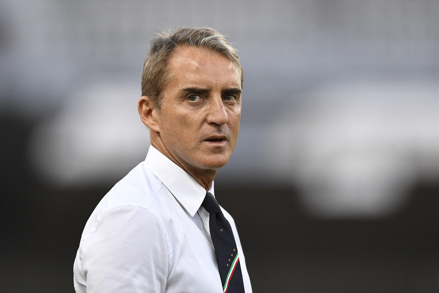 Ct Mancini 7,5 - L'Italia vince e convince. La forza dell'avversario è un fattore, ma la sua mano su palleggio e mentalità si vede tutta.