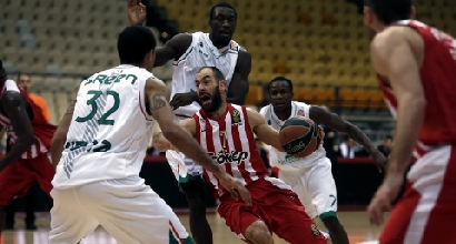 Eurolega: Siena sfiora l'impresa al Pireo con l'Olympiacos, che vince 78-73