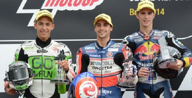 Il podio di Brno (Afp)