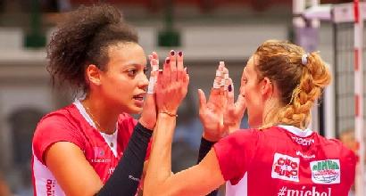 Volley, A1 femminile: vincono Busto Arsizio e Bergamo