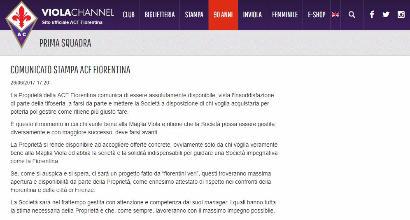 Ufficiale: la Fiorentina in vendita