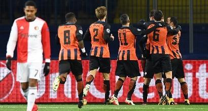 Champions League: lo Shakhtar piega 3-1 il Feyenoord e inguaia il Napoli