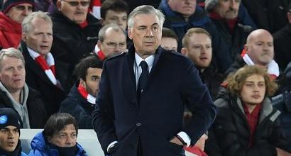 """Napoli, Ancelotti: """"Dispiace molto, ora l'Europa League per fare bene"""""""