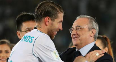 """Real Madrid, lite Perez-Sergio Ramos dopo l'eliminazione: """"Pagami e me ne vado"""""""