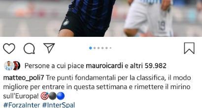 Inter, Icardi mette like ai post dei compagni dopo la vittoria sulla Spal