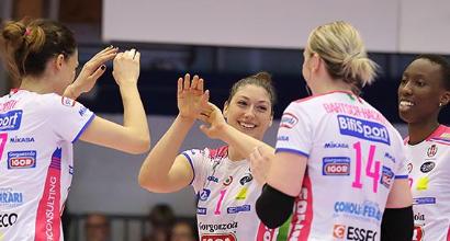 Volley, playoff donne: Novara trema, poi batte Scandicci e si porta in vantaggio nella serie