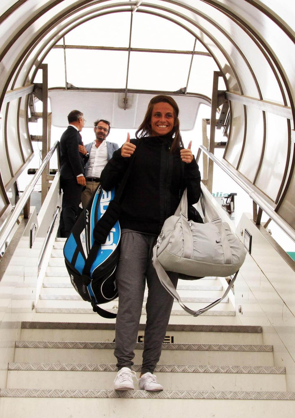 Roberta Vinci torna a casa: