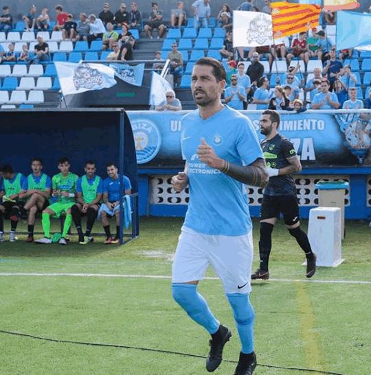 L'attaccante Marco Borriello, 36 anni: ha risolto in anticipo il contratto con l'UD Ibiza
