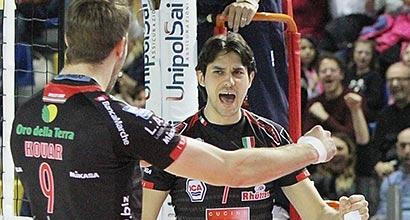 Volley, SuperLega: Trento cade con Macerata, Modena in testa