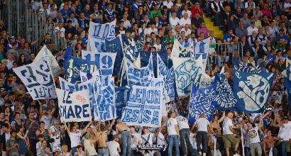 Brescia-Cagliari, scontri tra tifosi