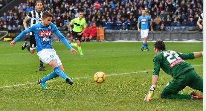 Udinese-Napoli 0-1: Jorginho firma il contro-sorpasso all'Inter