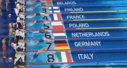 Europei di nuoto, beffa Italia nella 4x50 mista: si rompe un blocco