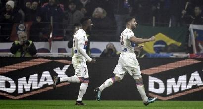 Ligue 1: il Lione batte 2-0 il Marsiglia e aggancia il Monaco