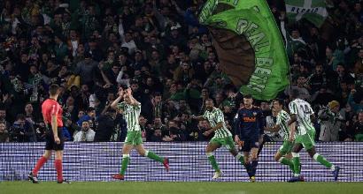 Copa del Rey: il Betis sciupa, il Valencia ringrazia e pareggia con Gameiro nel recupero