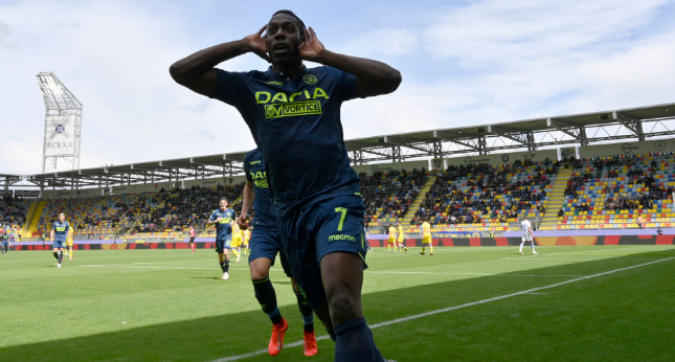 Serie A, Frosinone-Udinese 1-3: Okaka trascina i friulani