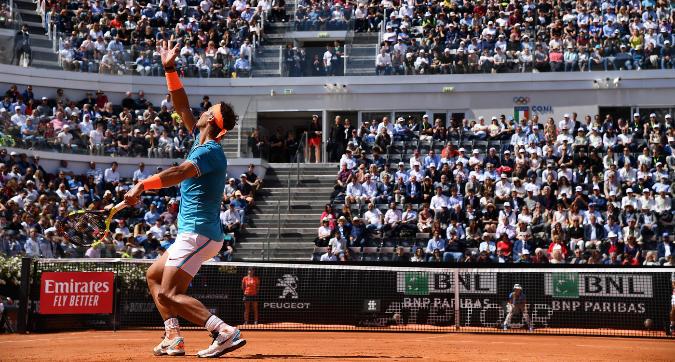 Tennis, Masters 1000 Roma: Nadal in semifinale, Federer costretto al ritiro