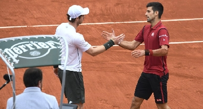 Murray e Djokovic (Afp)