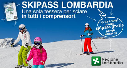 Sci, per gli Under 16 skipass gratuiti in Lombardia negli ultimi due weekend di marzo