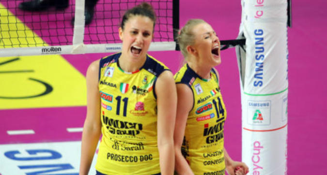 Volley, playoff A1 donne: Conegliano domina anche gara-2, Novara surclassata
